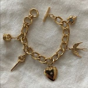 "*Rare* Stella & Dot ""Wonderland""charm bracelet"